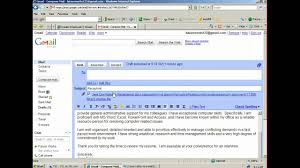 Resume Email How To Attach And Email A Resume YouTube 12