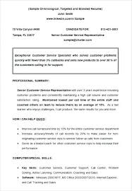 Basic Chronological Resume Templates Sample Template Example Of ...