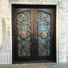 wrought iron door glass doors front inserts double entry