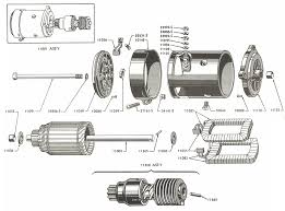 starter motor parts for ford jubilee naa tractors 1953 1954 starter motor and related parts diagram for ford jubilee and naa tractors 1953 1954