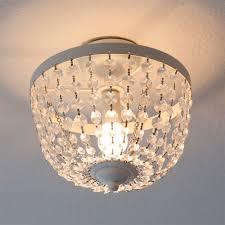 Details Zu Deckenlampe Chateau Weiß Shabby Chic Deckenleuchte Mit Kristallen Kronleuchter