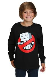 Boys Minecraft Ghastbusters Long Sleeve T-Shirt