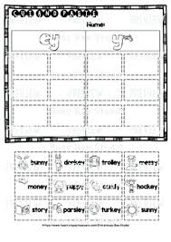 To view the worksheet activity or to download the pdf, click on the individual title. Long Vowel Teams Sorts Ey Y Cut And Paste Worksheets By Busy Bee Studio