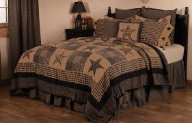 farmhouse quilt bedding.  Quilt Primitive Star Patch Black Oversized King Quilt Country Farmhouse  Quilted Bedding  In Quilt E