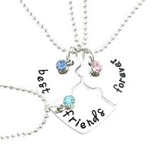 whole best friends heart shaped diamond necklace