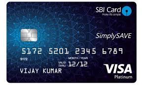 sbi simply save credit card image