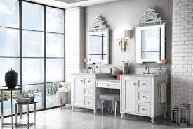 Bathroom vanity with makeup area. Hot New Trend For 2018 Bathroom Vanities With Built In Makeup Tables