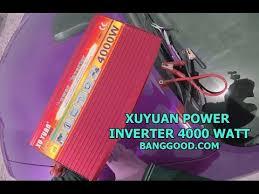 XUYUAN <b>4000W Power Inverter</b> Car Converter Sine Wave - YouTube