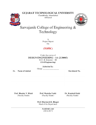 Design Engineering 1a Report Template