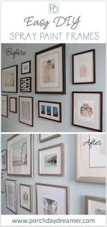 easily change your picture frames with a little spray paint
