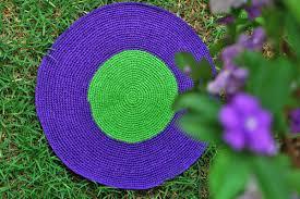 rug purple green