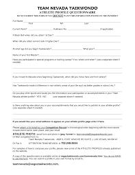 sample questionnaire for thesis format