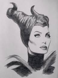 Disney Maleficent Sketch Angelina Jolie By Chloe Murphy Drawing