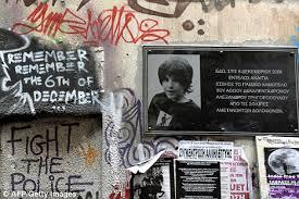 「2008 Greek riots memorial 」の画像検索結果