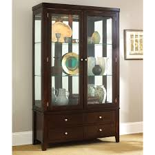 Corner Kitchen Curio Cabinet Steve Silver Wilson Curio Cabinet Espresso Curio Cabinets At