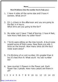 First Grade Math: Word Problems | math | Math, Math word problems ...