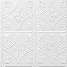 sagging tin ceiling tiles bathroom: armstrong ceilings tin look tintile homestyle  pack white patterned surface mount acoustic ceiling