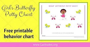 Potty Training Charts For Girls Free Potty Training Chart Girls Butterfly Printable Behavior