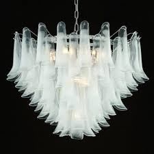 calypso glass chandelier lights white milk martha stewart