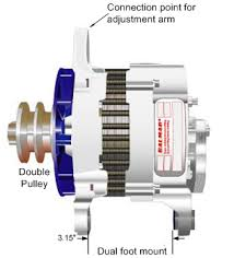 installing a high power alternator in your boat balmar dual foot mount large case high output alternator double pulley and external fan