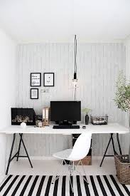 office design home. monochrome great black and white simple home office space with modern striped rug design