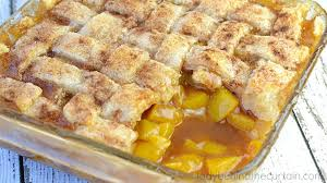 southern peach cobbler with pie crust. Simply The Best Family Gathering Dessert Full Of Peaches With Tender Pie Dough Dumplings And Southern Peach Cobbler Crust