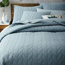 Patterned Quilt | west elm & Braided Quilt, Twin, Moonstone Adamdwight.com