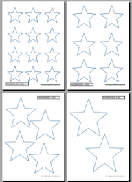 printable star printable star easy printables