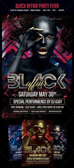 Party Flyer Creator Black Affair Party Flyer Free Flyer Designer Flyer And Vector Designs