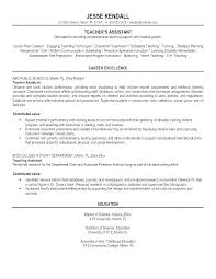 Sample Resume For Teaching Assistant Adorable Sample Teaching Assistant Resume Yomm