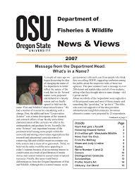 News & Views Department of Fisheries & Wildlife 2007