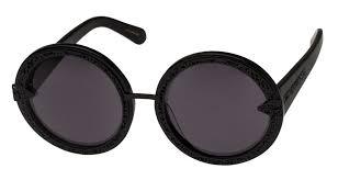 orbit filigree black round frame sunglasses