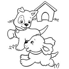 puppy coloring page printable