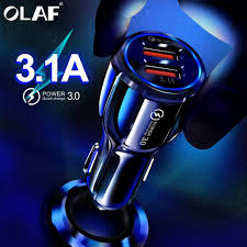 Olaf <b>Car</b> USB Charger <b>Quick Charge 3.0</b> 2.0 Mobile Phone Charger ...