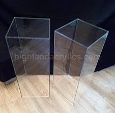 Acrylic Pedestal Display Stands Amazon Acrylic Pedestal Stand Column Pillar100 Home Kitchen 32