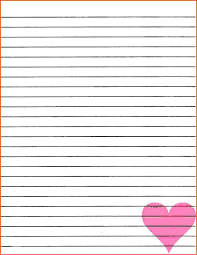 Notebook Paper Template For Word Best Template For Lined Paper Printable With Picture Box Cteamco