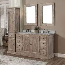Laurel Foundry Modern Farmhouse Clemmie Double Bathroom Vanity Set With Linen Tower Wayfair