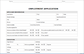 Employment Form Template Job Application Templates Hashtag Bg