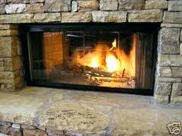 fireplace glass door parts