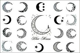 Crescent Moon Design Moon Tattoos For Women New Design New Release Blue Moon Of
