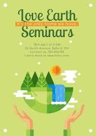 Poster Maker Design Love Earth Seminar Poster Online For