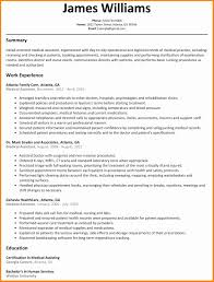 Medical Assistant Example Resume Resume Examples for Medical assistant New Resume Sample Receptionist 15