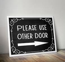 Please use other door Please use front door Front door sign | Etsy