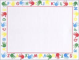 Printable Awards And Certificates Alphabet Border School Printable Award Certificates 8 5x11