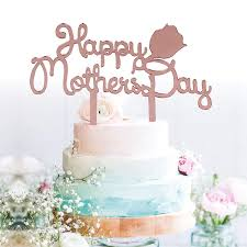 Amazoncom Grantparty Rose Gold Happy Mothers Day Cake Topper Cake
