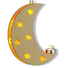 Wenko Led Mond Gelbe Led Lämpchen Holz Weihnachtsdeko Fensterdeko Dekoleuchte Ceres Webshop