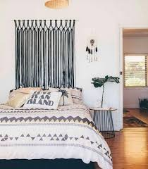 modern headboard wall decor idea awesome decoration a macrame hanging make for the perfect alternative above curved instead of behind metal decorative panel