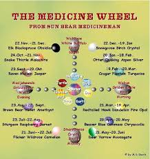 Native American Birth Chart Sun Bear Medicine Wheel Diagram