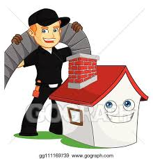 Chimney Sweeper Vector Illustration Chimney Sweeper With Cleaning Chimney