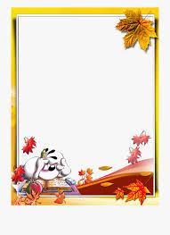 Otoño Free Printable Stationery School Clipart Borders
